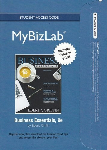 Business Essentials  9th 2013 (Revised) 9780132665148 Front Cover