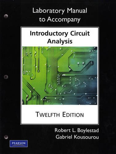 Laboratory Manual for Introductory Circuit Analysis  12th 2010 9780135060148 Front Cover