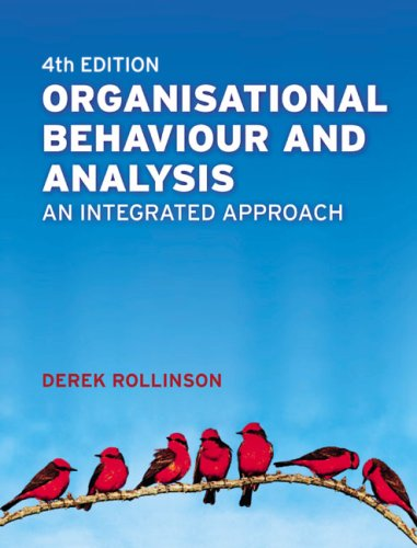 Organisational Behaviour & Analysis: An Integrated Approach  2008 9780273711148 Front Cover