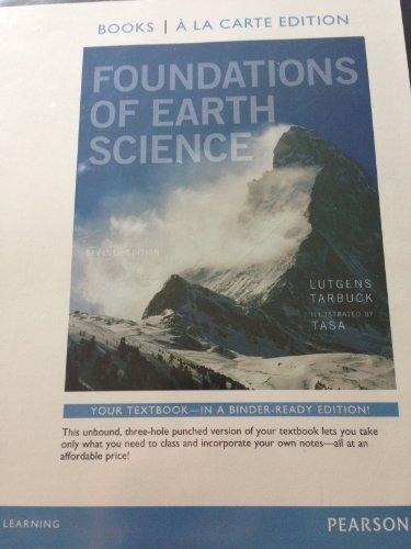 Foundations of Earth Science, Books a la Carte Edition  7th 2014 edition cover