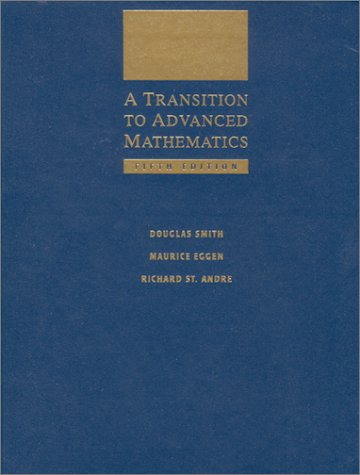 Transition to Advanced Mathematics  5th 2001 edition cover