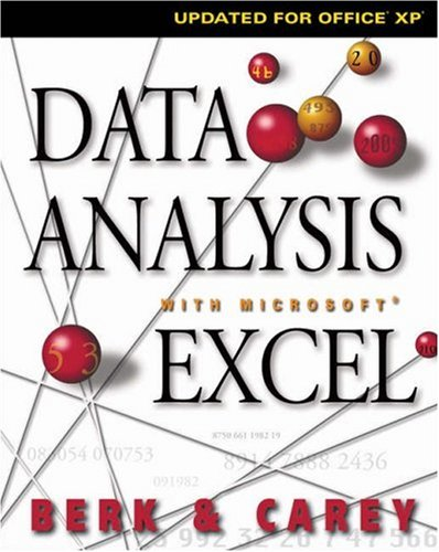 Data Analysis with Microsoft Excel Updated for Office XP 2nd 2004 (Revised) edition cover