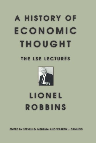 History of Economic Thought The LSE Lectures  1998 9780691070148 Front Cover