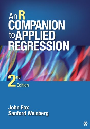 R Companion to Applied Regression  2nd 2011 edition cover