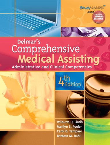 Delmar's Comprehensive Medical Assisting Administrative and Clinical Competencies 4th 2010 edition cover