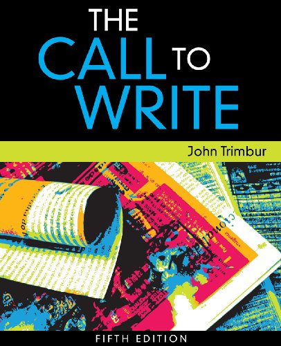 Call to Write  5th 2011 edition cover