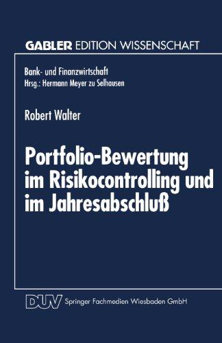 Portfolio-Bewertung Im Risikocontrolling und Im Jahresabschlu   1995 9783824462148 Front Cover