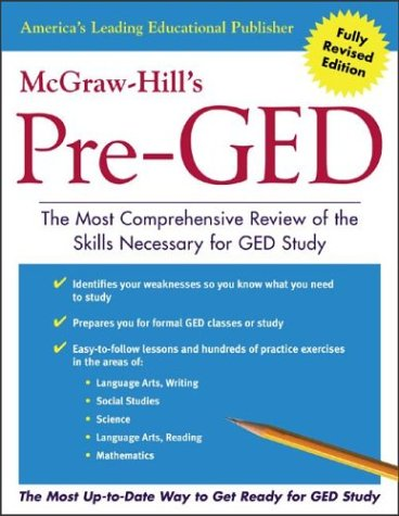 McGraw-Hill's Pre-GED The Most Comprehensive Review of the Skills Necessary for the GED Study  2004 edition cover