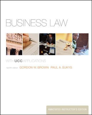 Business Law With UCC Applications 12th 2009 9780073341149 Front Cover