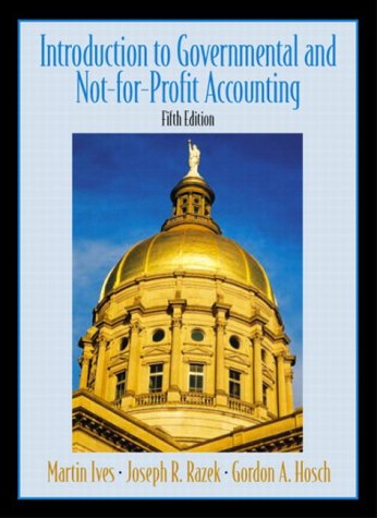 Introduction to Government and Non-for-Profit Accounting  5th 2004 9780130464149 Front Cover