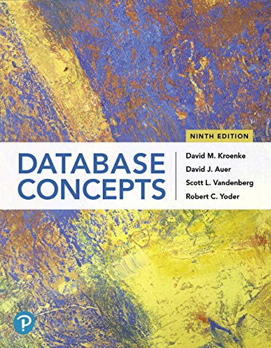 Database Concepts:   2019 9780135188149 Front Cover