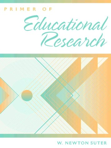 Primer of Educational Research   1998 edition cover