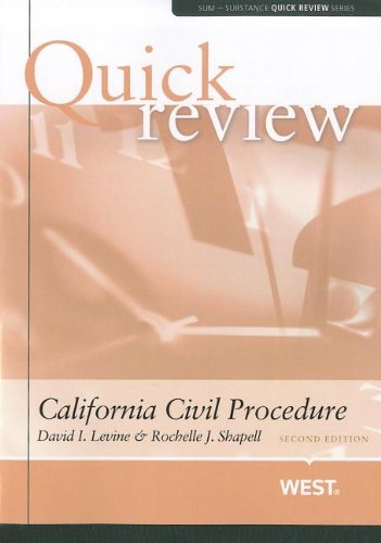 California Civil Procedure  2nd 2012 (Revised) edition cover