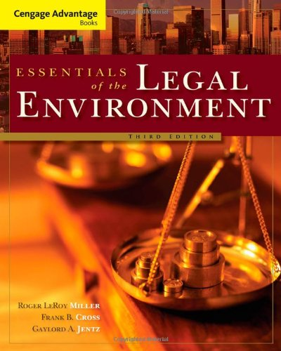Essentials of the Legal Environment  3rd 2011 edition cover