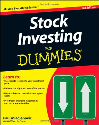 Stock Investing for Dummies  3rd 2009 edition cover