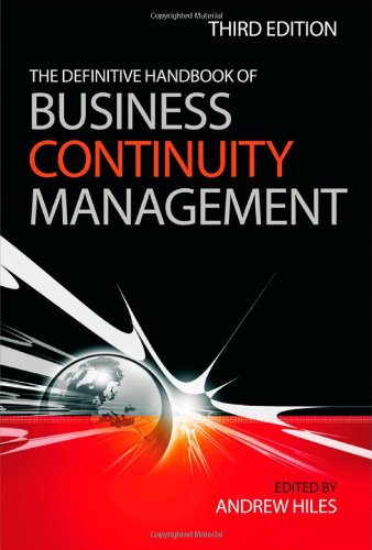 Definitive Handbook of Business Continuity Management  3rd 2010 (Handbook (Instructor's)) 9780470670149 Front Cover