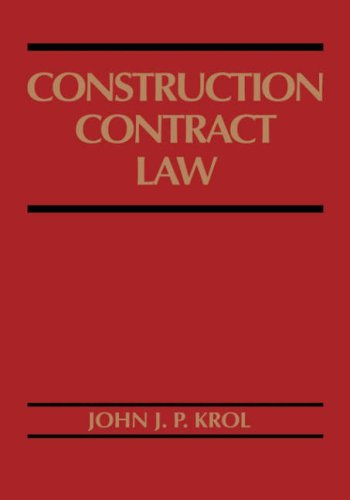 Construction Contract Law   1993 9780471574149 Front Cover