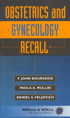 Obstetrics and Gynecology Recall  N/A 9780683182149 Front Cover