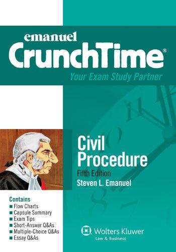 Civil Procedure  5th 2011 (Student Manual, Study Guide, etc.) edition cover