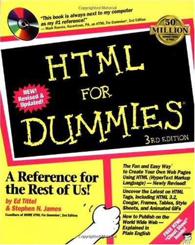 HTML for Dummies  3rd 1997 (Revised) edition cover
