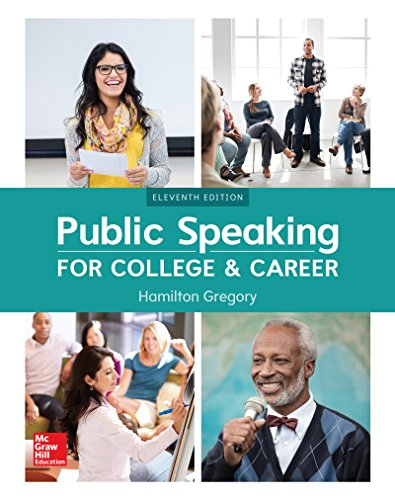 Public Speaking for College and Career:   2017 9781260153149 Front Cover