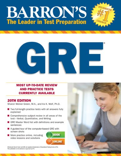 Barron's GRE, 20th Edition  20th 2013 (Revised) edition cover