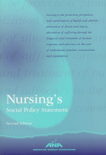 Nursing's Social Policy Statement 2nd 2003 edition cover