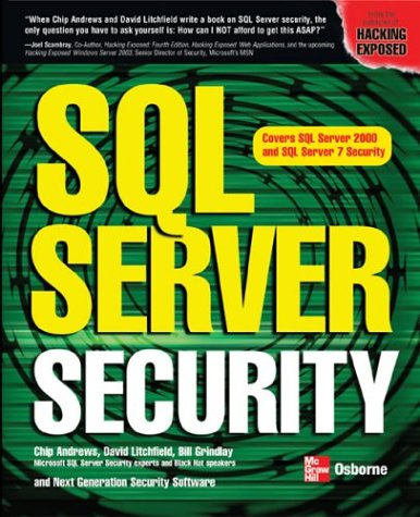 SQL Server Security   2003 9780072225150 Front Cover
