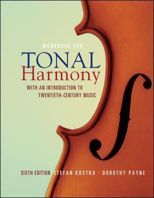 Workbook/Tonal Harmony 6th 2009 edition cover