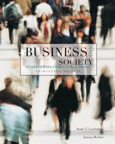 Business and Society Stakeholders, Ethics, Public Policy 13th 2011 edition cover
