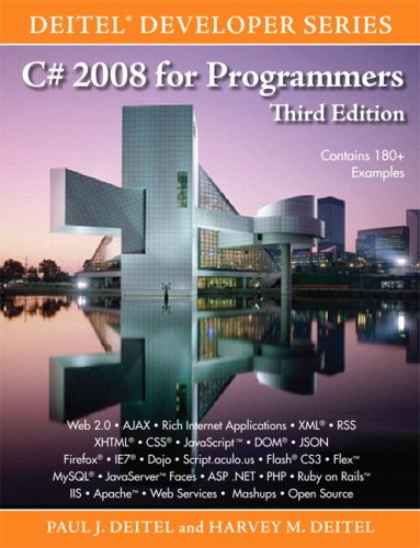 C# 2008 for Programmers  3rd 2009 9780137144150 Front Cover