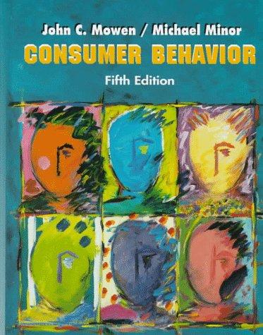 Consumer Behavior  5th 1998 edition cover