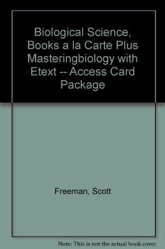 Biological Science, Books a la Carte Plus MasteringBiology with EText -- Access Card Package  5th 2014 edition cover