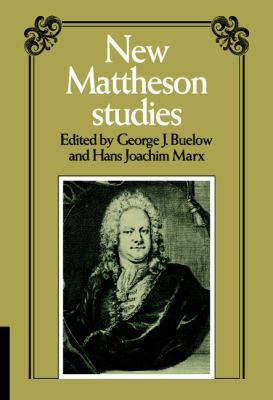 New Mattheson Studies   1983 9780521251150 Front Cover