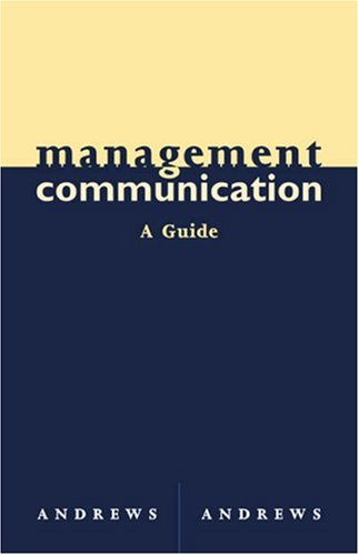 Management Communication   2004 (Guide (Instructor's)) 9780618214150 Front Cover