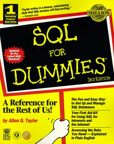 SQL for Dummies  3rd 1998 9780764504150 Front Cover