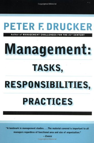 Management Tasks, Responsibilities, Practices  1993 (Reprint) edition cover