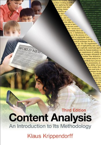 Content Analysis An Introduction to Its Methodology 3rd 2013 edition cover