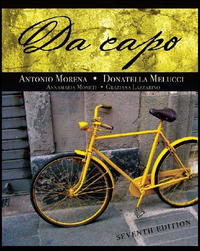 Da Capo  7th 2011 (Student Manual, Study Guide, etc.) edition cover