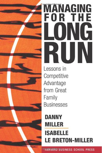 Managing for the Long Run Lessons in Competitive Advantage from Great Family Businesses  2005 9781591394150 Front Cover