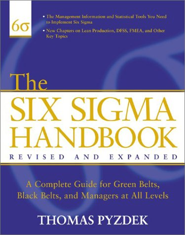 Six Sigma Handbook  2nd 2003 (Revised) edition cover