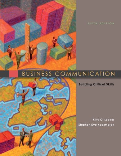 Business Communication Building Critical Skills 5th 2011 edition cover