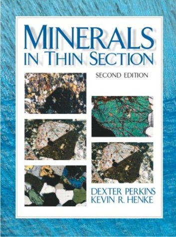 Minerals in Thin Section  2nd 2004 (Revised) edition cover