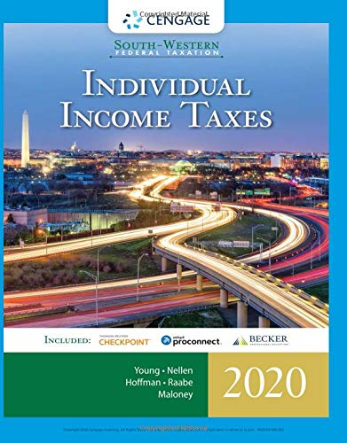 South-Western Federal Taxation 2020 Individual Income Taxes (Intuit ProConnect Tax Online 2020 and RIA Checkpoint 1 Term (6 Months) Printed Access Card) 43rd 9780357109151 Front Cover