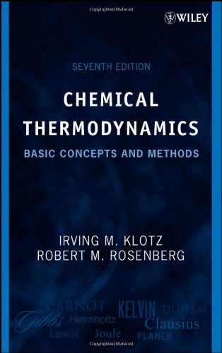 Chemical Thermodynamics Basic Concepts and Methods 7th 2008 edition cover