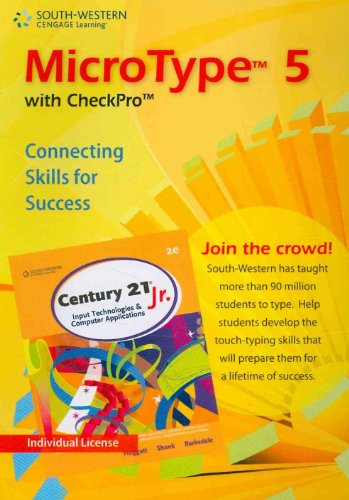 MicroType 5 with Checkpro Individual Version for Century 21 Jr  2nd 2010 9780538494151 Front Cover
