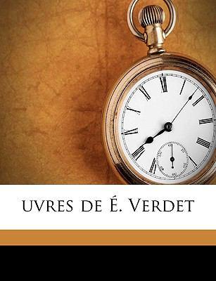 Uvres de É Verdet N/A edition cover