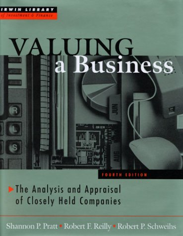 Valuing a Business  4th 2001 (Revised) 9780071356152 Front Cover