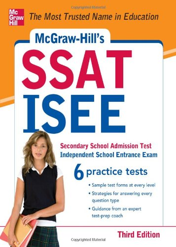 SSAT - ISEE  3rd 2012 9780071781152 Front Cover