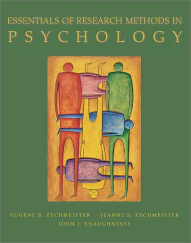 Essentials of Research Methods in Psychology   2001 edition cover
